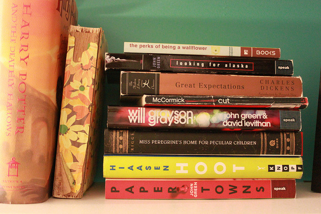 This is such an awesome stack of books. I have read and loved five of the nine, and have the remainder of the stack on my to-read list. Reading is fun! (says the former high school book club president)