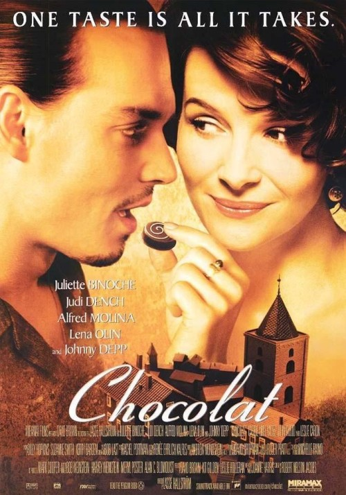 "30 Day Book Challenge Day 19 - Favorite book turned into a movie Chocolat by Joanne Harris.  Here me out: I love the book.  I do.  It's classic Harris and everything I love about her.  But I love the movie.  The thing I love so much is that it's not the Church condemning Vianne (which, yes, I realize is a central theme of the novel), I love that it's a man (yes, we could argue that Pere Reynaud is also just a man, but he's also a priest and therefore representing The Church) it's just a Man twisting religious fervor around in his addled brain (I love the scene where he's cutting up his wife's dresses in the closet) and believing that he's on a crusade, instead of a priest (the Church) vilifying everything they don't understand (yes, from what I understand about Catholicism that's ""what they do"", but I still don't like it). I also love Pere Henri's very simple, very Christian Easter message.  Yes, it's a message of tolerance and acceptance, one I'm led to believe doesn't often come from the Catholics, but it jives with my own personal beliefs and with the beliefs of many Christian churches I know and therefore this movie gets one big, fat gold star in my book. (And, not to criticize my beloved Harris too much, in the movie Vianne changes - she's a dynamic character, whereas in the book she undergoes no personal growth; she just accepts things as they come and doesn't do anything about it; yes, she helps out the village and helps people have the courage to stand on their own two feet, but she doesn't get anything out of it.  Vianne, in the novel, is no different at the end than she is at the beginning.)"