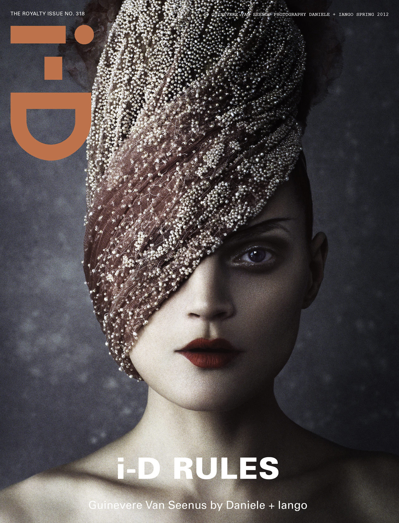 "bohemea:  Guinevere Van Seenus: The Royal Issue - i-D #318 by Daniele + Iango, Spring 2012 ""If I were Queen for a day I would play with all of the crown jewels… take a nap and then play with them some more!"" Guinevere is wearing an Alexander McQueen cape as a veil. That is the fiercest sentence I've ever written!"