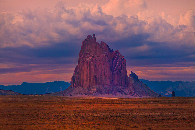 ShipRock Storm New Mexico by kevin mcneal on Flickr.