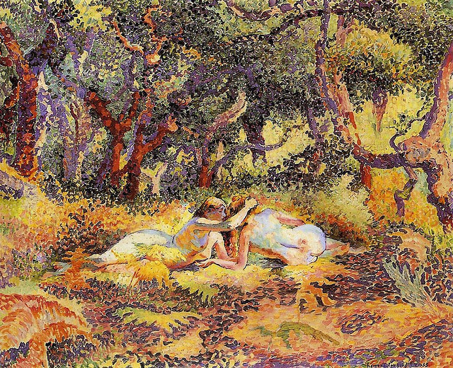 goodnumberone:  Cross, Henri Edmond (1856-1910) - The Forest- 1906-07