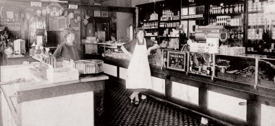 Rubenstein and Glickman's Jewish Deli, 12th and Independence, c.1925, Chicago. via Spertus Institute