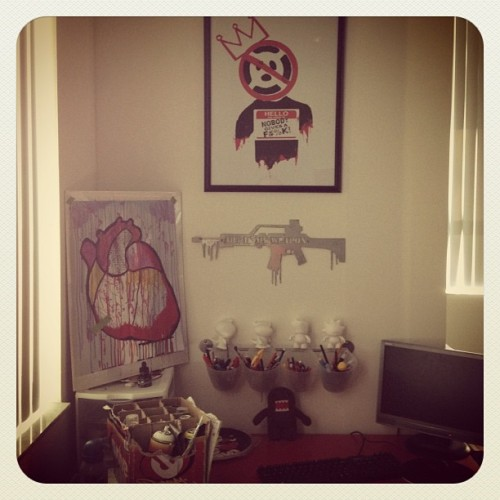 #BadPanda's work space.. #OhSoulFresh #artismyweapon @tmnk  (Taken with instagram)