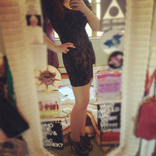 psst new dress aw yay :*