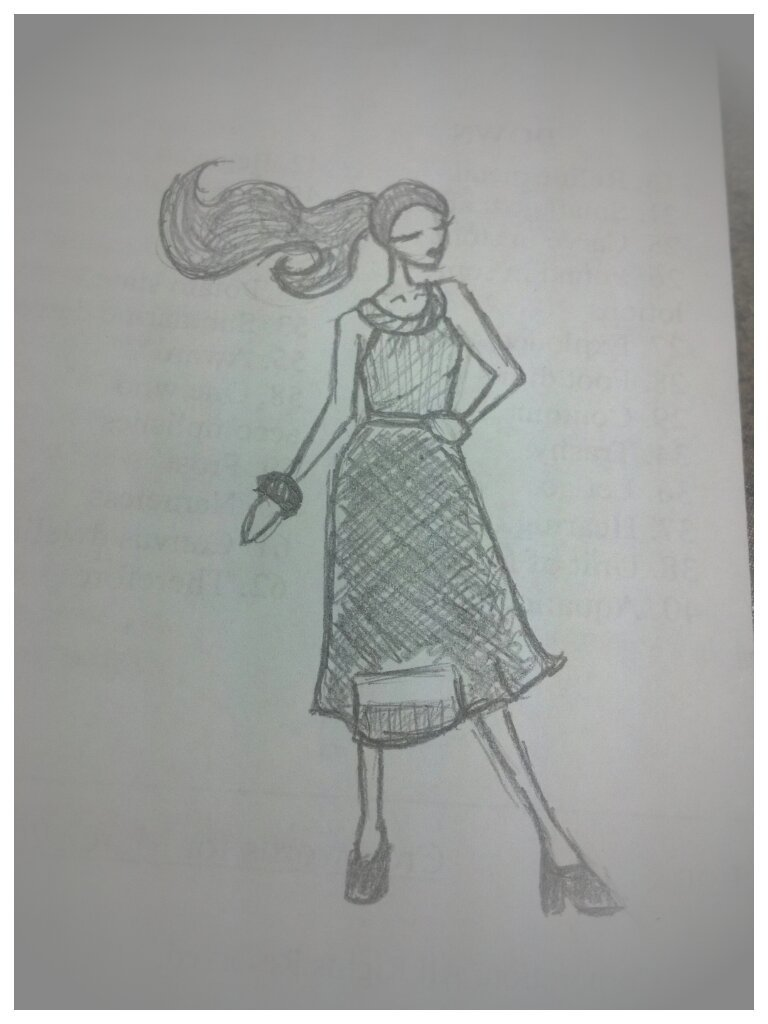 Bored at work drawing fashion models