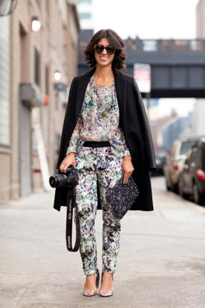 head to toe florals.