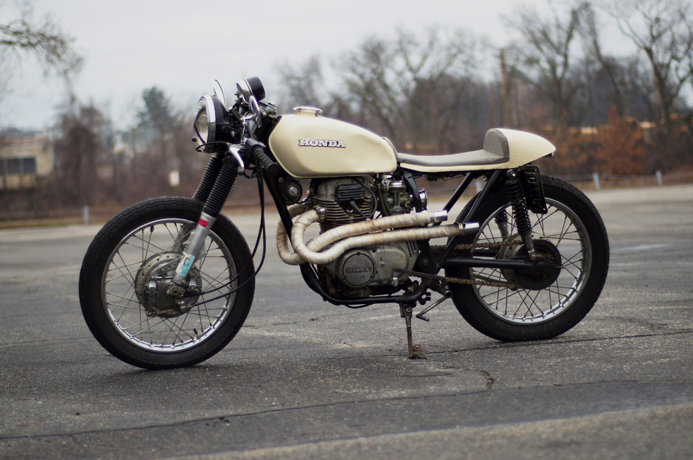 anchordivision:  ANCHOR DIVISION: 1973 CL360 Cafe Racer and Wolverine 1000 Mile Boots My ride. Nothing special but classic nonetheless. 1973 CL360.