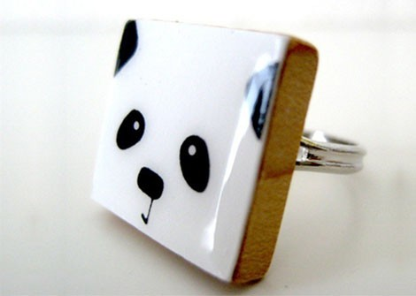 panda face ring  http://bit.ly/AvzTfH