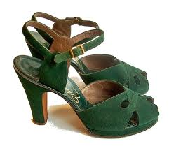 1940's platforms to dance in shamrock fields.