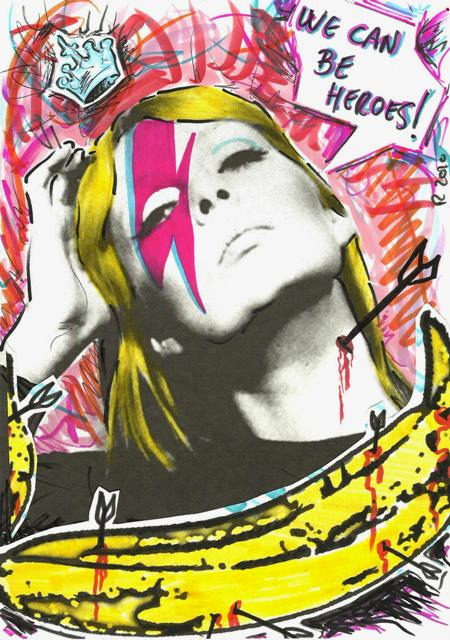Nico + Bowie + The Velvet Undeground + Warhol by POP SYMBOLISM on Flickr.