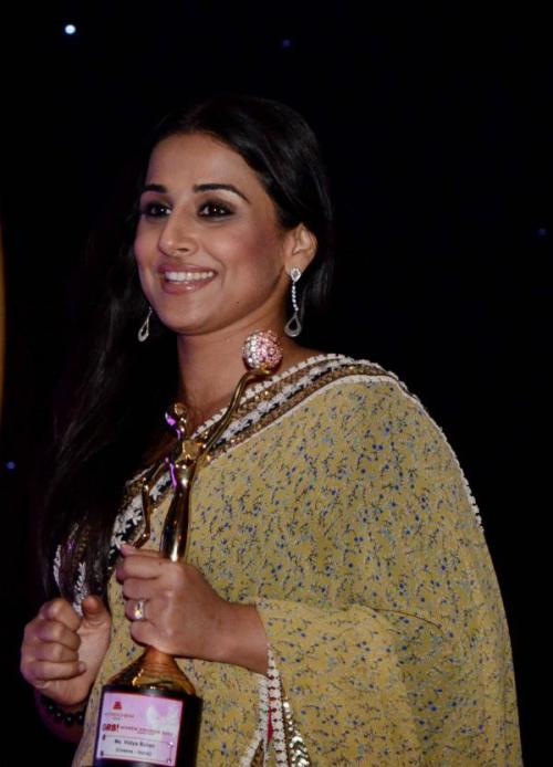 "The 2nd GR8! Women Awards 2012 Vidya Balan is definitely the greatest actress of this generation. She is the only lady that can bring audience in a cinema hall like a ""Khan"". She's the true actress back in the day it was Madhuri Dixit and after that Vidya Balan is the only one that have proved with time that she can carry a movie on her shoulders without a male actor in a movie. She proves that you don't have to be super sexy or wear a bikini; A good script and acting skills is all you need but fortunately she's blessed with the looks too. She's going to win the most awards as an actress in few years. She's going to rule Bollywood and deserves every award for sure."