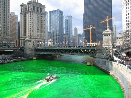 Chicago River, St. Paddy's day.