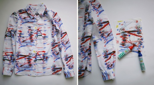 (via make it digital textiles: Left over shirt)