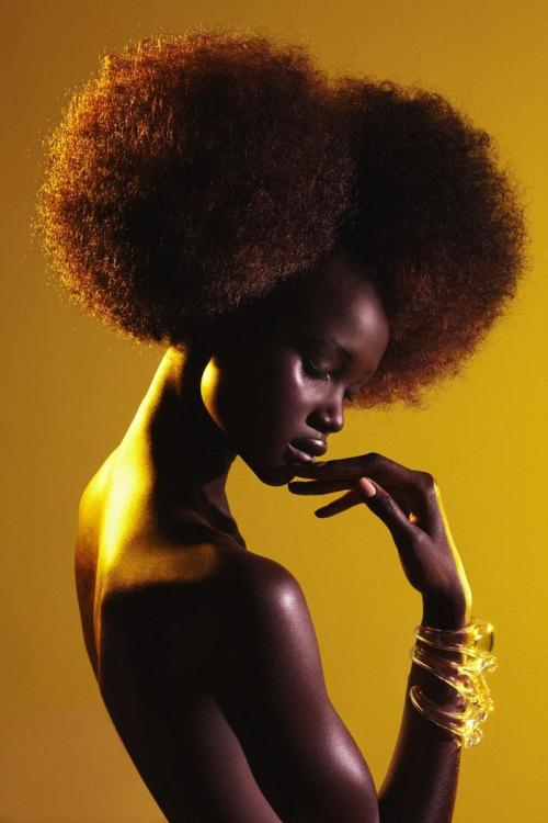 Ataui Deng for Garage Magazine, Spring/Summer 2012 Photographed by Elle Muliarchyk