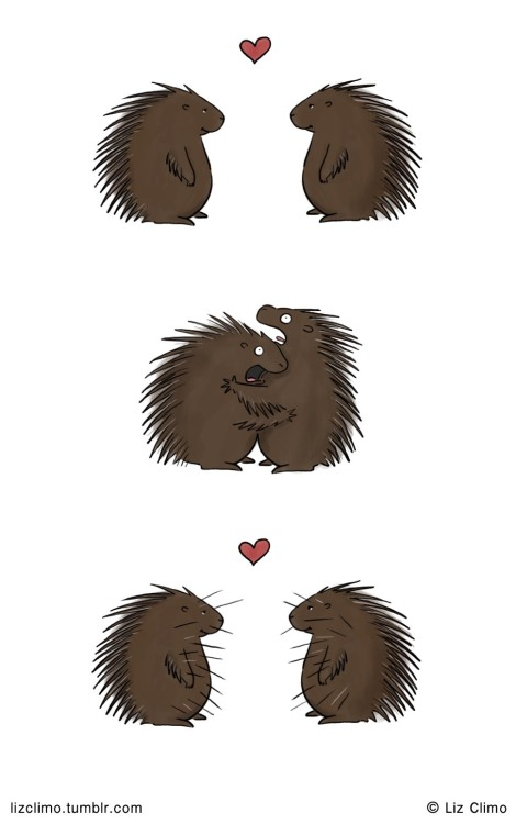 lizclimo:  Love is pointy.  © Liz Climo