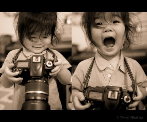 ^^ Every kid who's come into contact with a camera, ever.