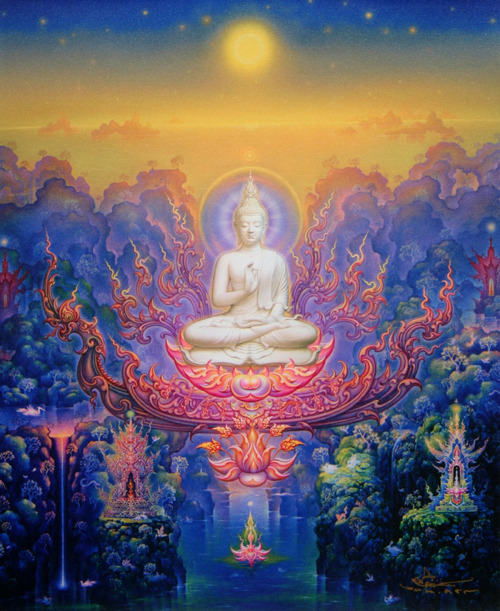 "victoriousvocabulary:  BODHISATTVA [noun] Buddhism: a bodhisattva (Sanskrit: बोधिसत्त्व bodhisattva; Pali: बोधिसत्त bodhisatta) is either an enlightened (bodhi) existence (sattva) or an enlightenment-being or, given the variant Sanskrit spelling satva rather than sattva, ""heroic-minded one (satva) for enlightenment (bodhi)."" The Pali term has sometimes been translated as ""wisdom-being,"" although in modern publications, and especially in tantric works, this is more commonly reserved for the term jñānasattva ""awareness-being"". Traditionally, a bodhisattva is anyone who, motivated by great compassion, has generated bodhicitta, which is a spontaneous wish to attain Buddhahood for the benefit of all sentient beings."