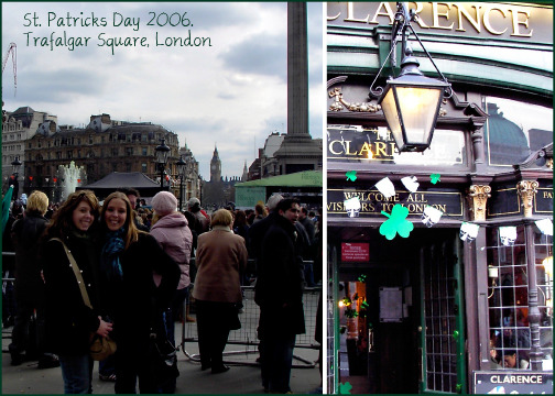 Six years ago today I met London for the very first time. It was St.Patricks Day 2006 and my cousin met my mom and I at Charing Cross and gave us the grand tour. I've been back almost every year since (in 2011 I went twice!) and I'm still madly in love with the energy, the culture and the history! My favorite London memory: camping out in Trafalgar Square for two rainy days to meet see JK Rowling at the Deathly Hallows Part 2 World Premiere. I think tonight I'll raise a green beer to my favorite city in the whole world, cheers London!