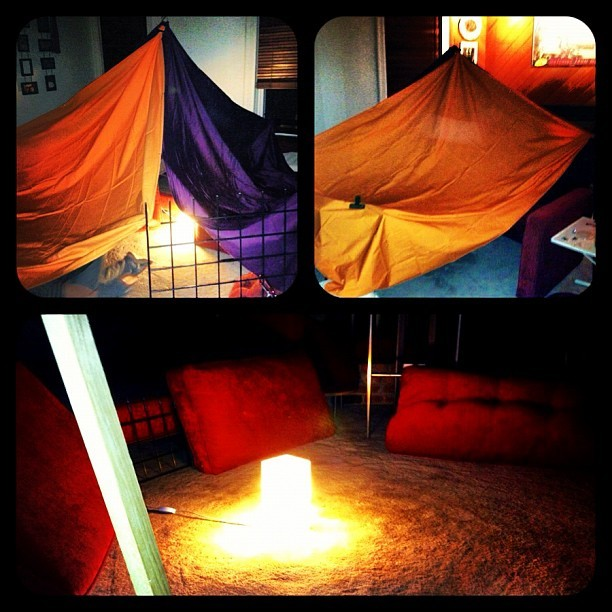 shermbe:  Building forts. Camping out in the living room. (Taken with Instagram at Fort town)  Step 2. THIS.