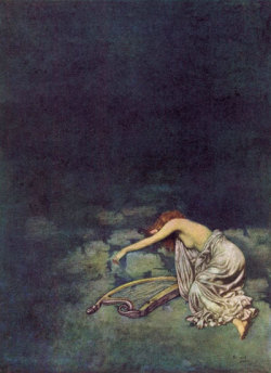 eternalmindgardens:   Edmund Dulac - Silence.  ideal