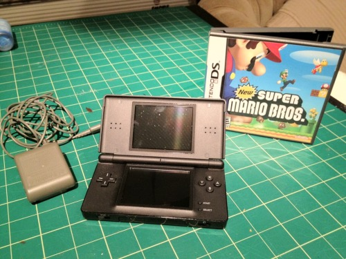 Nintendo DS Lite with Super Mario Bros game and wall charger - $40  Another seldom-used video game of mine.  Still has the stylus and wall charger.  The screens are pristine and I honestly think I only ever played this thing two or three times. Note, it's not the new 3DS, it's the older model.