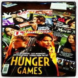 All my hunger games magazines!