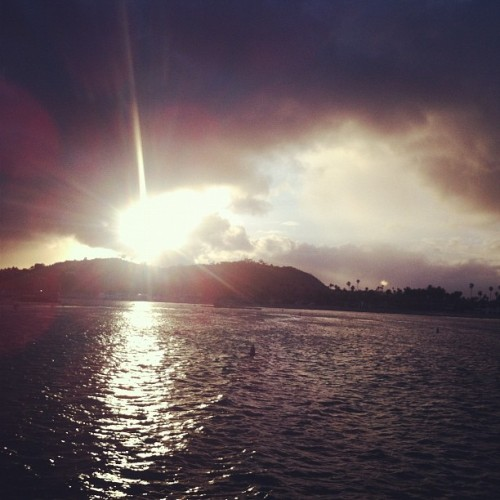 Sunset at Santa Barbara  (Taken with instagram)
