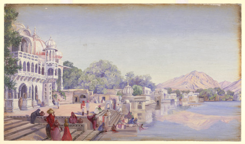 Poshkur, India by Marianne North, 1878