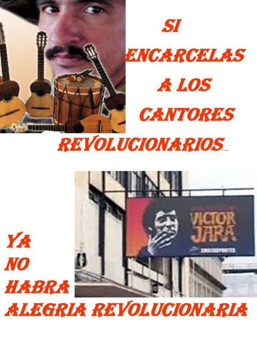 "elfuegonegro:  fuckyeahmarxismleninism:  ""If the revolutionary singers are imprisoned, there will no longer be revolutionary joy"" Freedom and asylum for Julian Conrado!  Reblogged via Stumblr"