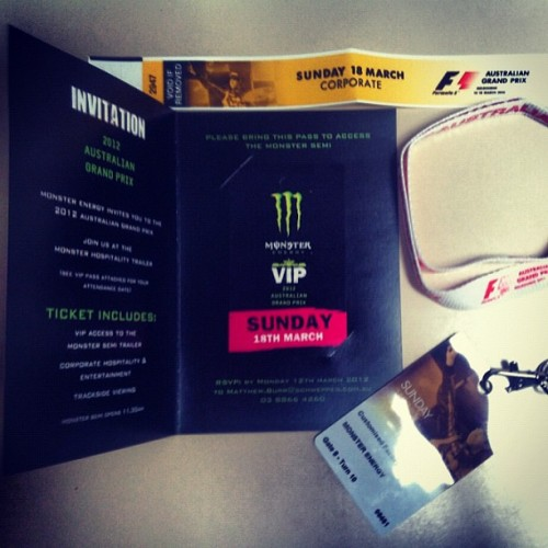 Thanks @MonsterEnergy for the hook ups today. Grand Prix Melbourne could be fun ;) (Taken with instagram)