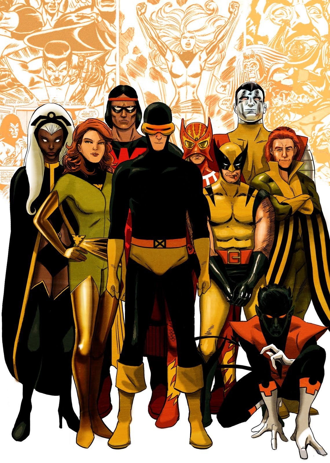 xombiedirge:  X-Men by Turretrato  Shortly after this picture was completed one of these x-men met with an untimely death…