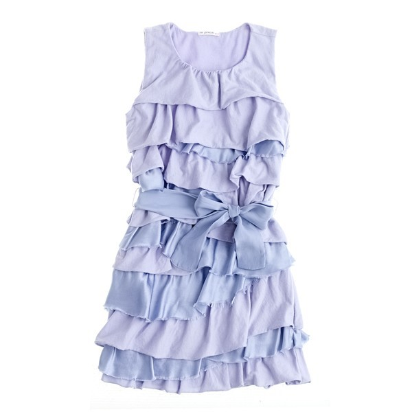 Periwinkle Ruffles [Girls' Rosalie Twisted Dress by J. Crew]