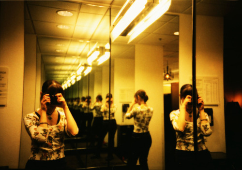 LC-A+, fuji velvia 100. Reflection in a Nordstrom dressing room :P