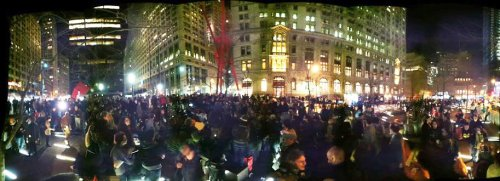 fuckyeahmarxismleninism:  New York City: Zuccotti Park has been re-occupied tonight, the half-year anniversary of Occupy Wall Street. March 17, 2012