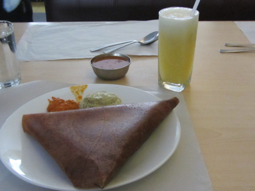 Dosa breakfast in Bangalore, India July 2011. I miss eating this everyday so much, if anyone knows how to make them, please share!