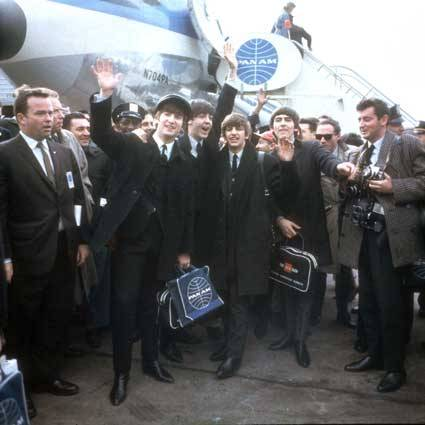 The Beatles arrive in America. New York - February 7, 1964.