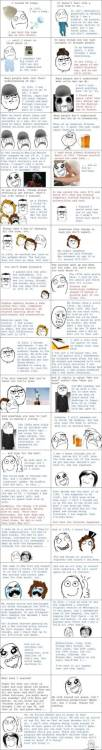 An 86 year old recounts his life using rage comics as a medium.