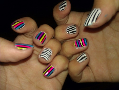 My nod to Spring! I love spring, and colors, and stripes.