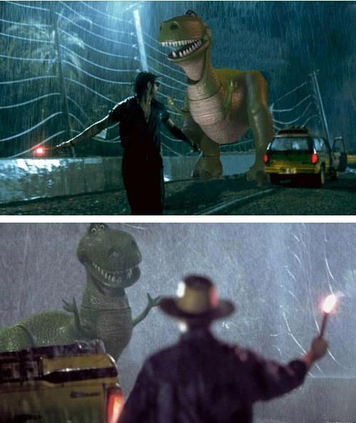 From Toy Story to Jurassic Park  Nice ;)