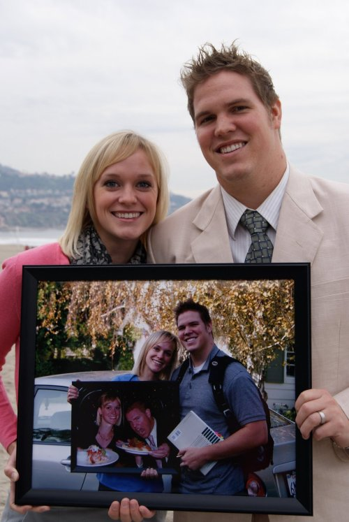 10knotes:  On every anniversary, take a picture of you holding a picture from the year before. Follow this blog, you will love it on your dashboard