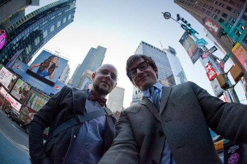 bryankonietzko:  Mike and me in Times Square…