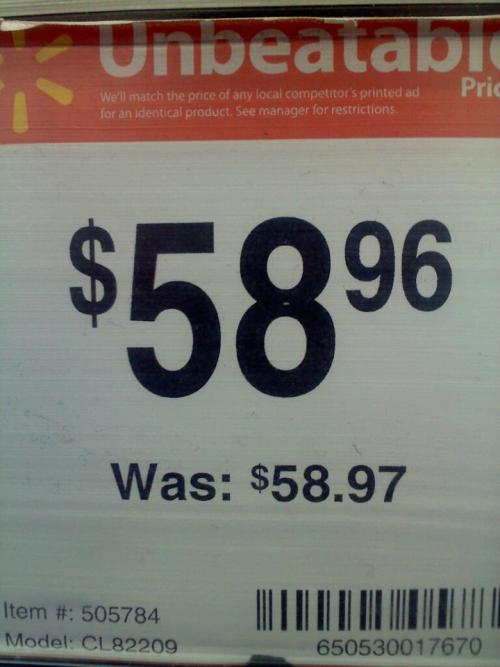wow walmart i almost couldn't afford that but you just saved me a ton of money thanks.