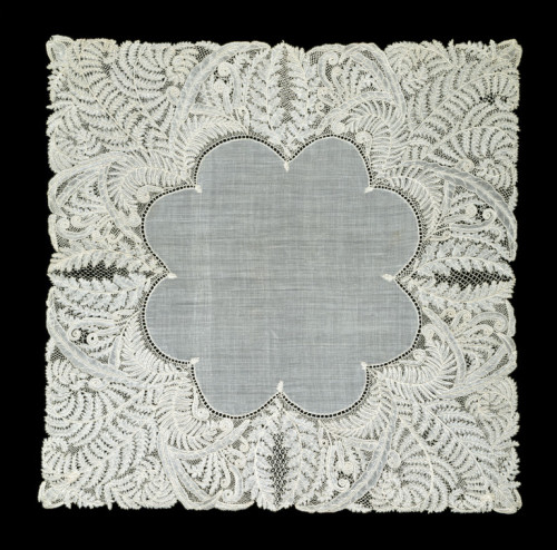 Honiton Lace Handkerchief 1864 The Victoria & Albert Museum