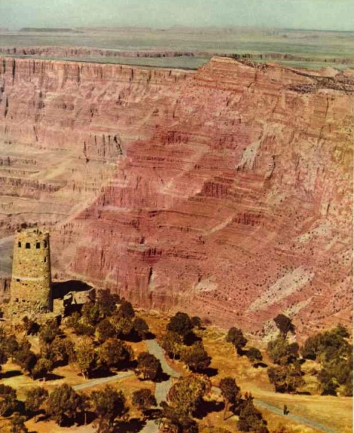endlessme:  Desert View Watchtower, Grand Canyon National Park, Arizona National Geographic, 1951