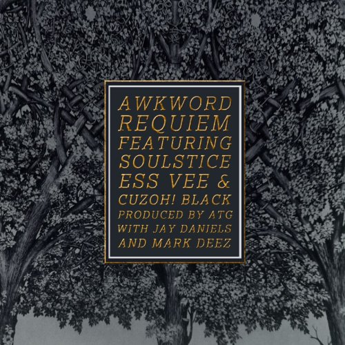 "#Requiem THIS week…[ ]==|==|==|==|==|==|==[]>————— New Single Cover Art by Andreis Costa for SweatShop NY.  AWKWORD Soundcloud followers [click here, then click the 'follow' button] can hear ""Requiem"" NOW: AWKWORD ft. SoulStice, Ess Vee & CuzOH! Black - ""Requiem"" (prod. ATG)"