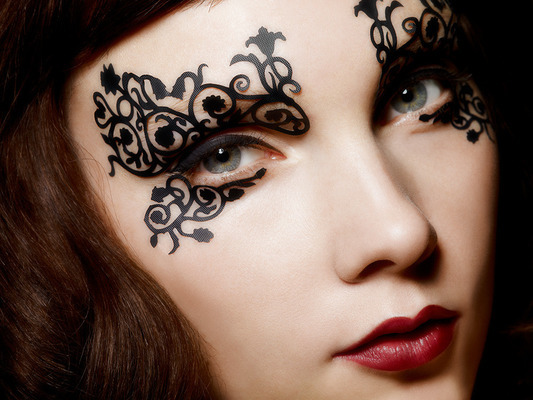 More pretty eye lace Face Lace (via Beautylish)