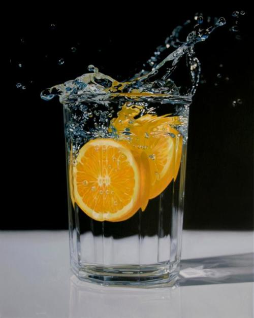 This reminds me: My friend made me sip her water with an orange slice in it… it was pretty good.
