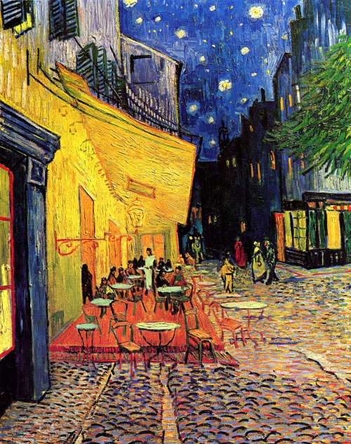 Café Terrace on the Place du Forum, Arles, at Night Vincent Van Gogh