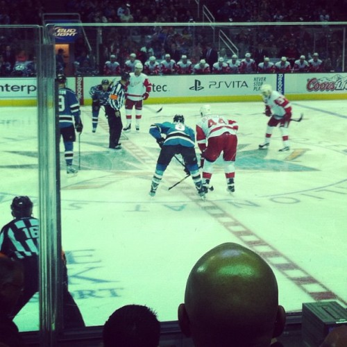 Great game! #sjsharks (Taken with instagram)