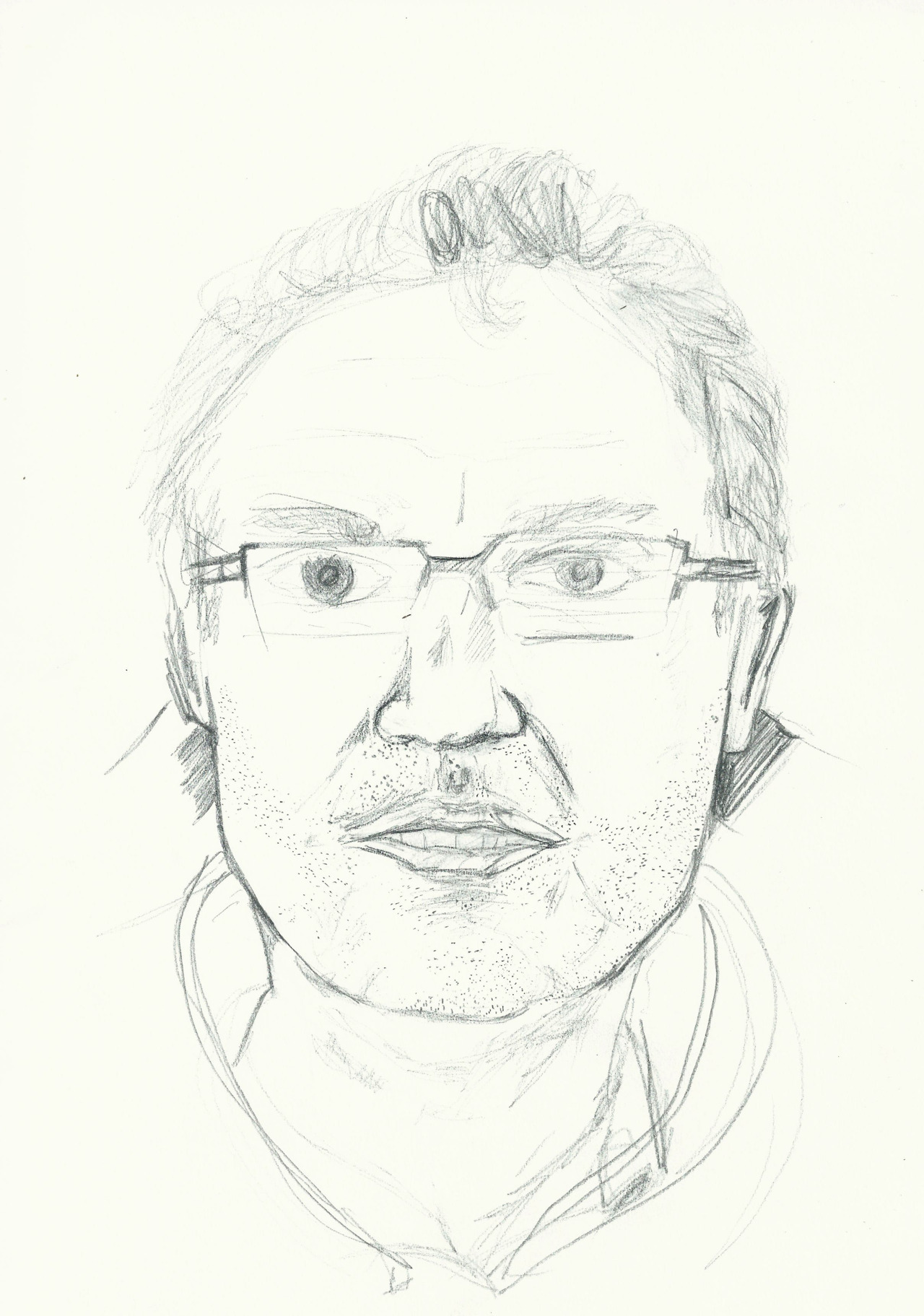 Drawing on London Underground. -Quick sketch of my dad on the train.